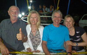 On the ferris wheel with Russ and Gwen