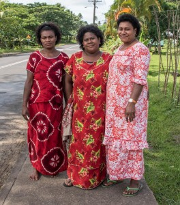 Fijian ladies out for a walk