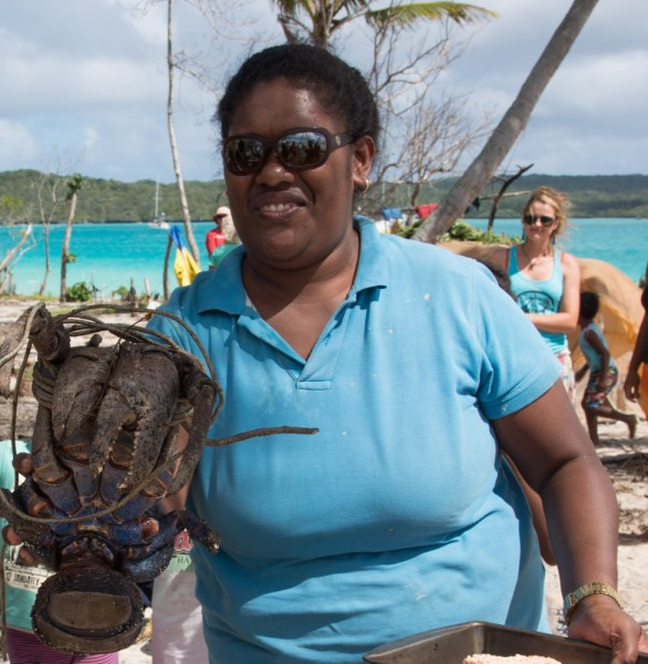 Ma with a coconut crab