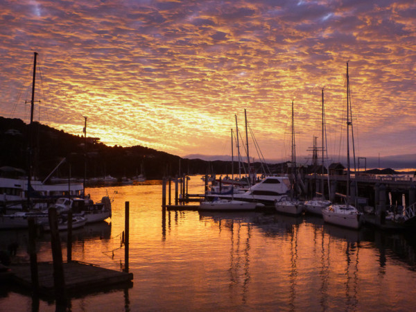 Mackerel sky in Opua