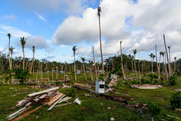 Debris from the cyclone