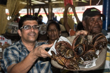 Lobsters at the market in Labasa