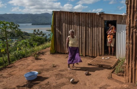 A Fijian family home at the top of the hill