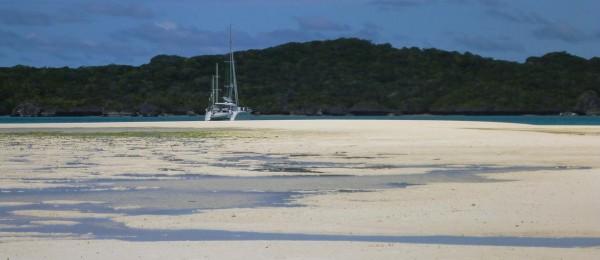 Sand spit at low tide