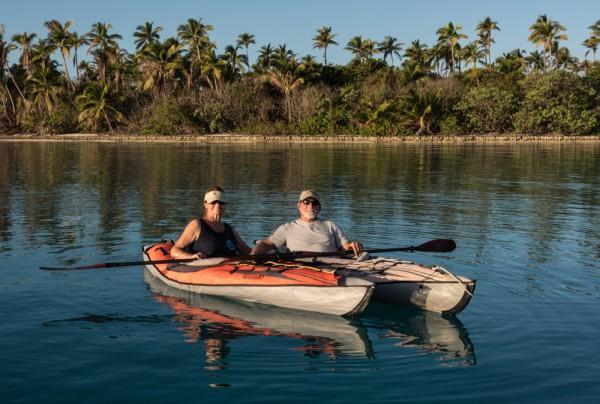 Bob and Joyce out on their kayaks