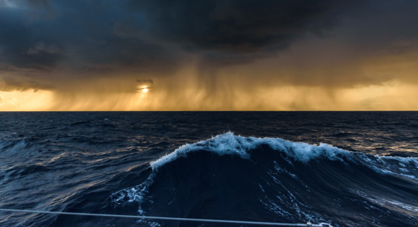 Sunset again in a squall